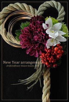 今年はしめ縄飾りを手作りしてみませんか?(アーティフィシャルフラワー単発レッスン)|ありがとうの数は幸せの数!心に届くありがとうを創る場所ポルテボヌール 公式ブログ