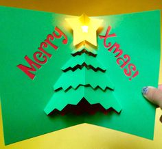 Circuit sentiments cards, which pop up and light up using a simple copper tape circuit an LED