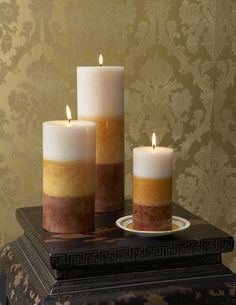 Shades of Light Pillar Candles by Blissliving Home