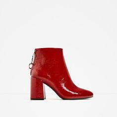 HIGH HEEL ANKLE BOOTS WITH METALLIC PULL TAB-Ankle boots-SHOES-WOMAN | ZARA United Kingdom
