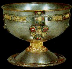 The 13th-century French writer Chretien de Troyes first introduced the Grail Quest in the form in which we know it today: the story of how virtuous Christian knights such as Percival and Galahad set forth to find the Holy Grail, the chalice used by Jesus Christ at the Last Supper