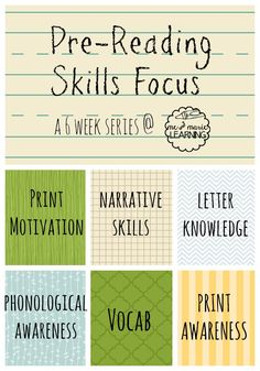 prereading skills focus. Practical ideas for every age group to build pte reading skills at home.