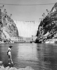 In this photo provided by Union Pacific Railroad, known as one of the world's largest electrical power plants, gigantic Hoover Dam also provides a variety of pleasures for visiting vacationers, as shown Feb. 26, 1957. Lake Mead, stretching above the dam for 115 miles, offers excellent fishing all year and is a perfect spot for boating, swimming and other water sports through the long summer season.