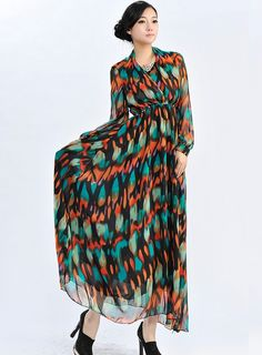 Fashion Style Slim Heaps Collar Chiffon Bohemian Dress-- Click on the picture to order it>>Shop price:US$17.70---#shoes #wholesale #fashion #lovely #cheap #Korean #dress #sexy #clothes