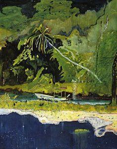 Painting by Peter Doig Peter Doig, Abstract Landscape, Landscape Paintings, Inspiration Artistique, Henri Matisse, Claude Monet, Contemporary Paintings, Oeuvre D'art, Figurative Art