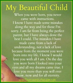 my children more than anything. Although I am sure I have made my fair share of mistakes over the years, my love for them has never been a question. I hope they always know this :)