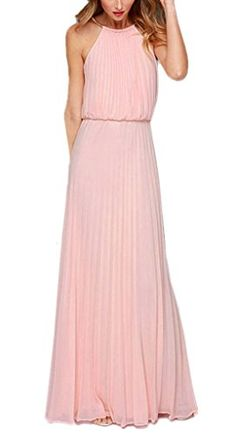 Kufv® Women's Sleeveless Chiffon Halter Pleated Maxi ... http://www.amazon.com/dp/B00ZRQPHVE/ref=cm_sw_r_pi_dp_8s4pxb14AWCZ9