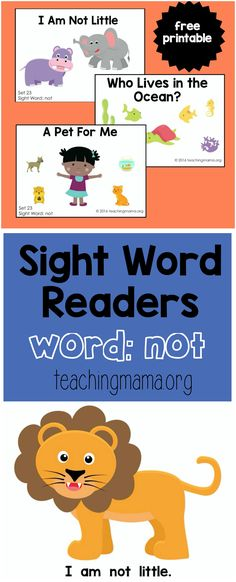 Sight Word Readers- Not