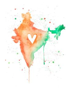 or – India Love / Watercolor Map Print / Wedding Gift / Anniversary Gift / Moving Gift / Travel / Wanderlust / South Asia 5 x 7 oder x 11 Indien Liebe Indian Independence Day Images, Independence Day Wallpaper, Happy Independence Day India, America Independence, Indian Flag Wallpaper, Indian Army Wallpapers, 15 August Images, August 15, Wedding Gifts For Parents