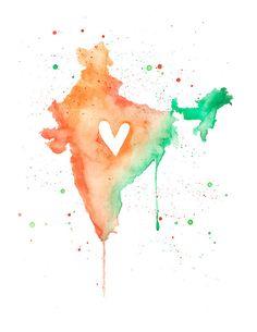 5x7  India Love by poppyandpinecone on Etsy, $10.00