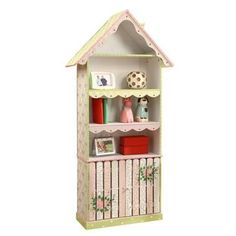 Bring the picket fence lifestyle into high fashion with Fantasy Fields' Crackled Rose Bookcase! Stylish hutch bookcase offers three shelves for your child to place books, stuffed animals, pictures, am