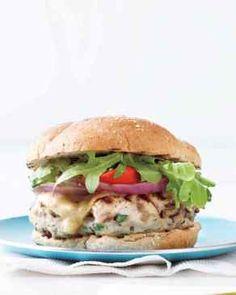 Mushroom-Swiss Turkey Burgers, Courtesy: www.marthastewart.com