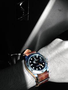 "Rolex Explorer II on custom made ""Stach Straps"""