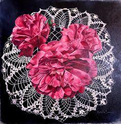 Garden Roses | Floral Series Rose, Garden, Floral, Art, Art Background, Pink, Garten, Lawn And Garden, Flowers