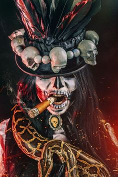 halloween costumes Inspiration & accessories for your DIY Witch Doctor halloween costume idea - witch doctor makeup,witch doctor,witch doctor makeup tutorial,witch doctor costume,wi Doctor Halloween Costume, Voodoo Costume, Voodoo Halloween, Voodoo Dolls, Diy Halloween, Wizard Costume, Halloween Decorations, Papa Legba, Orishas Yoruba
