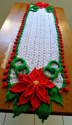 Best 12 Crochet And Patterns: Flower centerpiece pattern – SkillOfKing. Crochet Christmas Decorations, Christmas Placemats, Christmas Crochet Patterns, Holiday Crochet, Christmas Crafts, Crochet Doily Rug, Crochet Dishcloths, Crochet Crafts, Crochet Flowers