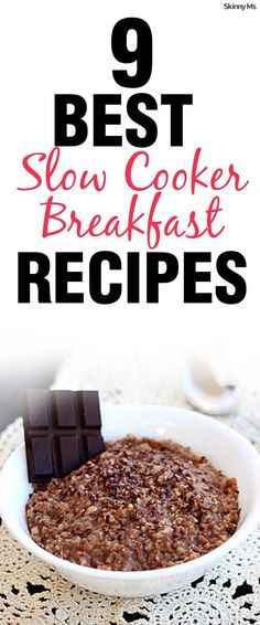 Crockpot breakfasts help save time in the morning. A quick & easy way to enjoy a healthy meal. Hot Chocolate Steel Cut Oatmeal recipe.