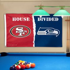 San Francisco 49ers vs Seattle Seahawks WinCraft Deluxe 3' x 5' House Divided Flag