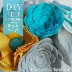 DIY No-Sew Felt Flowers