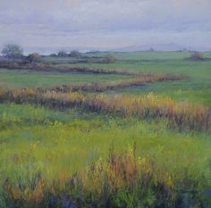 """The Farmer's Field by Kathy McDonnell Pastel ~ 12"""" x 12"""""""