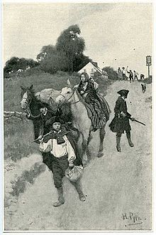 """Tory Refugees on their way to Canada"" by Howard Pyle [Revolutionary War loyalists]"