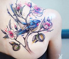 Nature tattoo tattoo by Kati Berinkey