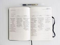 emma's studyblr minimalist bullet journal spread