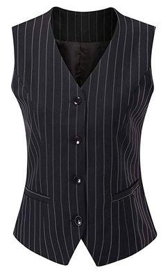 Vocni Women s Fully Lined 4 Button V-Neck Economy Dressy Suit Vest  Waistcoat at Amazon. 26a16e0b4e4b