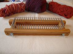 ***** Small Gauge Adjustable Knitting Loom. 60 total Pegs -- Small Gauge 3/8 spacing. Each long side has 25 Pegs and each short side has 5 pegs for a total of 60 pegs. This loom also converts into a 50 peg Knitting Board - hardware included. Loom has a working area (pegs) of 9 3/8. Total length is 12 3/8. Side pegs are approximately 2 - total length approx. 3 1/4. Use this loom to make small gauge socks of all sizes (baby to adult), mittens, scarves and much more. Does be...