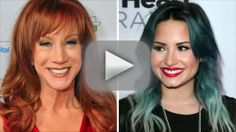 Kathy Griffin Reveals Death Threats From Demi Lovato Fans