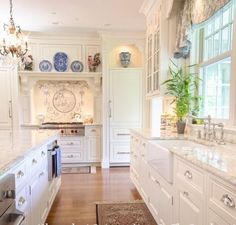 Never thought I would like a #whitekitchen with #whitecountertops