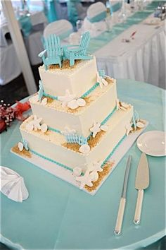 Beach Wedding Cake Topper 2 Mini Adirondack by SeashellCollection, $27.00