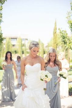 love the bridesmaid dress color