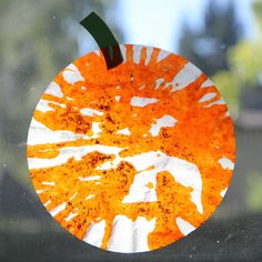 Toddler Approved!: Easy Pumpkin Sun Catcher for Toddlers