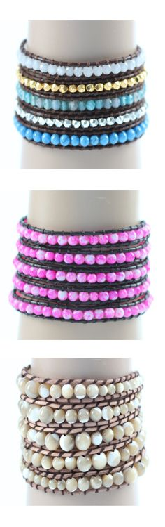 Handmade 5 layer beaded wrap bracelets in dozens of beautiful color choices.  The hottest fashion accessory this season at quite possibly the best price ever with coupon: 2for22shipped  See all the designs here --> https://www.addtobeauty.com/2-for-22-shipped/