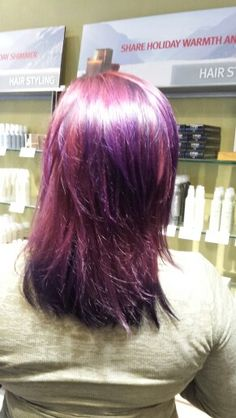 Red and purple for this beauty! By Ashley Bean