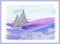 Sneeuwlandschap geschilderd met bijenwas door Beika Kruid