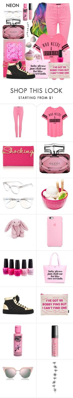 """Untitled #17"" by causualtiesofaccessory ❤ liked on Polyvore featuring beauty, J Brand, Charlotte Olympia, Gucci, Wildfox, ZAK, Jellycat, OPI, ban.do and Philipp Plein"