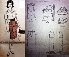 Retro Pattern, Vintage Sewing Patterns, Doll Patterns, Clothing Patterns, Dress Patterns, Retro Fashion, Vintage Fashion, Barbie Collection, Pattern Drafting