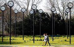 park clocks dusseldorf germany