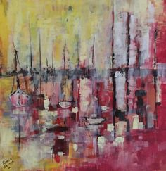 Sunset Harbour - http://www.contemporary-artists.co.uk/paintings/sunset-harbour/