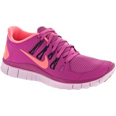 Give your naturally flexible feet the support and cushion they need when you run wearing Nike Free 5.0+ running shoes. Ladies will enjoy the comfortable feel of the barefoot-like-upper built with extremely soft mesh and Dynamic Flywire cables designed to enhance the support you get from the shoe. Perfect for long distance runs and fast paced training. Upper: Dynamic Flywire cables move naturally with the body, tightening during changes of direction to enhance support. A lace up front offers…