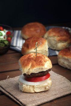 προετοιμασία Bread Art, The One, Hamburger, Easy, Food, Brioche, Essen, Burgers, Meals