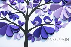 Wedding Guest Book  Modern Tree Guestbook  3d hearts by MioGallery, $190.00