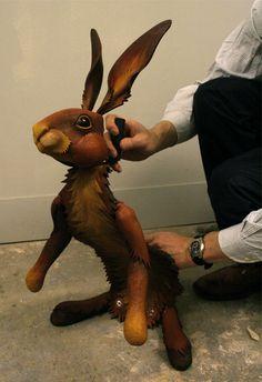 Rabbit Puppet from His Dark Materials Theater Production