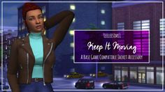 Simsworkshop: Keep It Moving jacket by leeleesims1 • Sims 4 Downloads