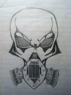 cool gas mask drawing | Gas Mask skull by RLsaber on deviantART