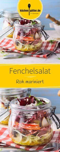 Dieser roh marinierte Fenchelsalat mit leckerer Salami eignet sich super als Mittagessen im Büro. Kann ganz schnell und einfach am Tag zuvor vorbereitet werden und ist gut zum Mitnehmen geeignet.
