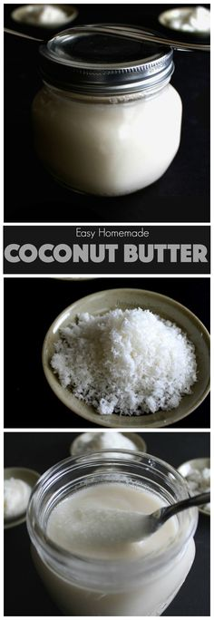 Homemade Coconut Butter Recipe (gluten free vegan raw)- Healthy easy coconut butter with just 2 ingredients. Naturally gluten free and vegan!
