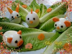 Boiled egg food decoration